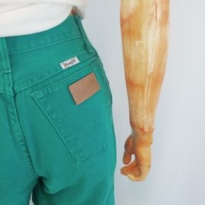 Wrangler Jeans - WRANGLER | vintage turquoise high rise jeans